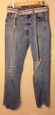 """Lived in"" Abercrombie & Fitch Blue Jeans w/ Belt - Sz: 30/32 - RN75654"