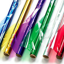 Coloured Cellophane Craft Rolls for Children for Decoration (Box of 6 rolls)