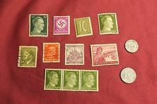 "WW2 German Third Reich ""Hitler Stamps"" & Nazi Eagle Coins..(lot H11)"