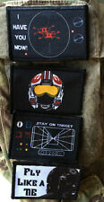 Star Wars X-Wing Tie Fighter Lot of 4 Morale Patch Red 5 Rogue Squadron