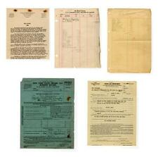 """""""The Godfather"""" Vito Genovese tax archive Lot 126"""