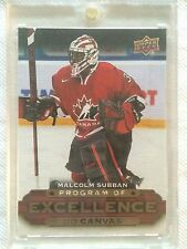 2015-16 UPPER DECK SERIES 2 HOCKEY CANVAS PROGRAM OF EXCELLENCE MALCOLM SUBBAN