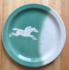 """1964 HORSE RACING #3 HORSE AND JOCKEY PLATE, 9.5"""", STERLING RESTAURANT WARE"""