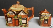 Vintage Price Bros. Kensington Ye Olde Cottage Ware Teapot and Sugar Bowl