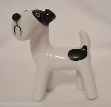 "Metzler Ortloff Rare Walter Bosse 3"" Spot Dog Fox Terrier Black White Figurine"