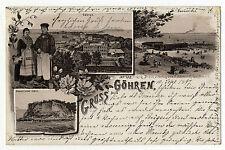AK Gruss aus Göhren Sept. 1897 Damenstrand Volkstrachten Litho  Rügen
