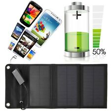 6W Folding Solar Panel USB Travel Camping Portable Battery Charger For Phone F7