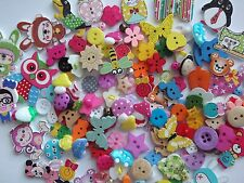 100 Top Quality Wooden Resin Assorted Buttons, Button Craft FIRST CLASS POST