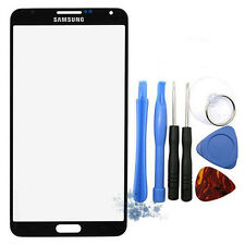 Black Outer Front Screen Glass For Samsung Galaxy Note 3 SM-N9005+Adhesive+Tools
