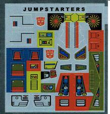 Transformadores Autobot generación 1, G1 piezas Jumpstarters REPRO Etiquetas/Pegatinas
