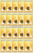 20 Basic XY/Black and White LIGHTNING Energy Pokemon Cards Yellow/Electric-Type