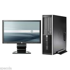 "Rápido Hp Pc De Escritorio Sff Intel I5 Cpu 320 Gb Hdd 4 Gb Ddr3 de 19 ""Monitor Tft Win 7"