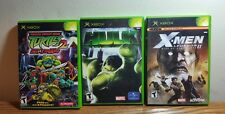 XBOX LOT OF SUPERHERO FIGHTING VIDEO GAMES - NINJA TURTLES- HULK - X-MEN