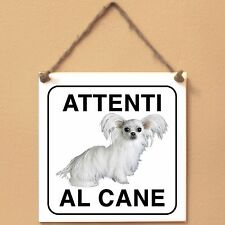 Mi-Ki 3 Attenti al cane Targa cane cartello ceramic tiles