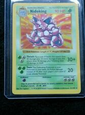 Pokemon Nidoking 11/102, Base Set, SHADOWLESS CARD, 1999, Excellent / Near Mint
