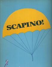 """""""Scapino"""" Broadway Souvenir Program 1974  Jim Dale  OBC"""
