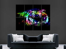 NEON TIGER  HUGE LARGE WALL ART POSTER PICTURE  IMAGE """"