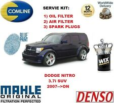 FOR DODGE NITRO 3.7 4x4 2007-- ON OIL AIR FILTER + SPARK PLUGS SERVICE KIT