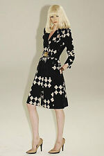 L.A.M.B lamb Gwen Stefani Black Plus Printed Cotton Trench Coat 6