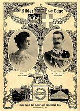 Helene & Viktor Emanuell III. König von Italien Kaiserbesuch Automobil 1903