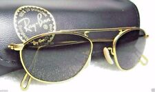 RAY-BAN *NEW VINTAGE B&L Mod-AVIATOR W2003 Pinpoint Etched 24kGP *NOS SUNGLASSES