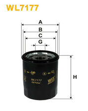 WIX WL7177 Car Oil Filter - Spin-On Replaces W6101 PH4386 OC2176