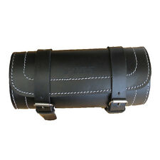 MOTORCYCLE MOTORBIKE GENUINE LEATHER TOOL ROLL SADDLE BAG