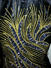 SALE! Size 10 (M) (MN-BK) New Evening Dress Long Dress Party Gown With Sequins