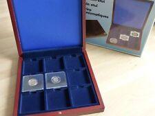 Quadrum Coin display case for 9 capsules Mahogany