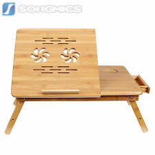 Songmics Bamboo Portable Laptop Desk Folding Breakfast Bed Serving Tray ULLD001