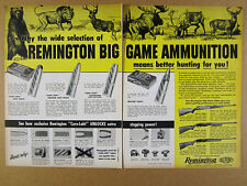 1958 Remington Big Game Ammunition & Model 725 760 740 Rifles vintage print Ad