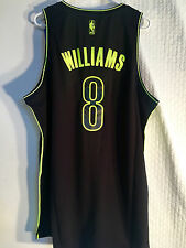 Adidas Swingman NBA Jersey BROOKLYN Nets Deron Williams Black Electric sz XL