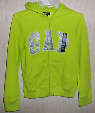 NWT GIRLS Gap Kids NEON GREEN FULL ZIP HOODIE  SIZE XXL (14) 13 Years