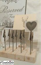10 x name card place card holders weddings displays stand clip table number 12cm