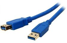 6Ft (6 Feet) USB 3.0 SuperSpeed Male A to Female A Extension Cable Gold Blue
