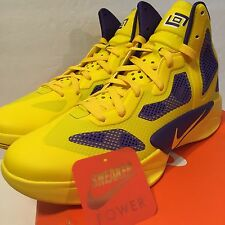 New DS Nike Zoom Hyperfuse 2011 Lamar Odom Yellow Purple sz 11 Lakers HOH PE LA