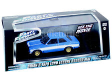 Greenlight 2013 Fast & Furious Brian's 1974 Ford Escort RS 2000 MK1 1:43 Blue