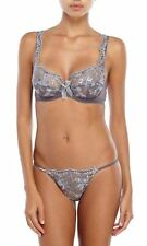 Christies Premiere Francesca Collection 38C XL Bra Thong Set Gray Italy New