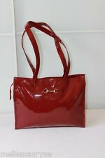 Sac MAC FLY Simili Cuir Verni Rouge Bordeaux TBE