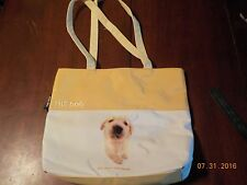 """The Dog"" Artlist Collection Golden Retriever Tote Bag-cream/yellow- new"