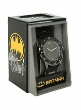 New Men's DC Comics Batman Super Hero Logo Seal Black Gunmetal Sport Wrist Watch