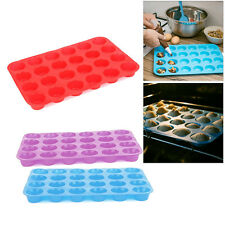 24 Cup Cavity Muffin Silicone Mini Cookies Cupcake Bakeware Pan Tray Mould