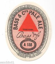 OLD BASS BREWERY BURTON-ON-TRENT PALE ALE A158 BEER LABEL