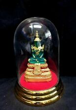 5.5 inch Tall Thai Emerald Buddha Phra Kaew Morakot in Clear & Gold Color Case