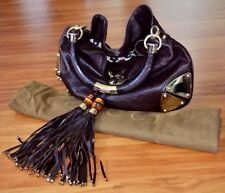 "GUCCI Guccissima ""Indy"" Top Handle Crossbody Tassel Bag! VINTAGE! SUPER RAREN!"