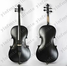 4/4 Electric Acoustic Cello powerful Sound Solid Wood Black Cello Bow #4