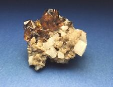 Rare Sphalerite Crystal Cluster On Matrix Walworth Quarry New York