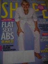 may 2010 Shape magazine Ellen DeGeneres on cover