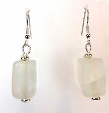 ELEGANT LADIES  CLEAR RECTANGULAR EARRING CHUNKY NEW RETRO COOL (A15)