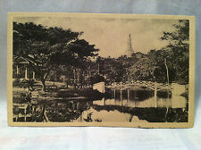 Old Antique Photo Card Of Victoria Park in Rangoon (Yangon) Capital of Burma